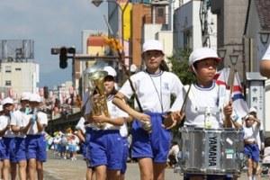 鼓笛隊パレード 会津まつりのイベント