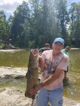41 inch flathead catfish caught at the maumee river by Dave Eberle