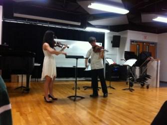 Jason Arevalo and Natalia Hidalgo violin recital 2014