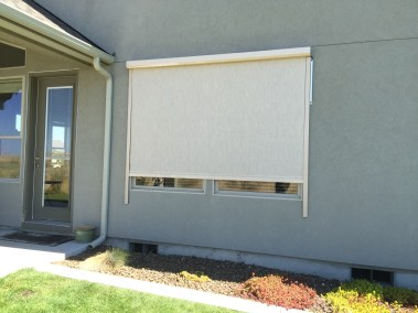 Stucco Fabric Solar Power - Motorized partial open