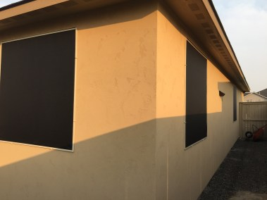Solar Screens with Black Fabric