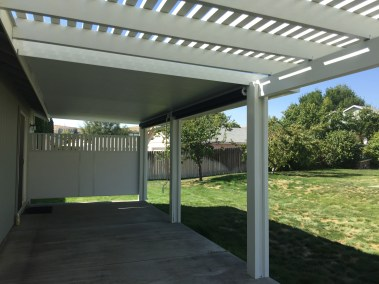 Exposed Open Black Shade Solar Shades