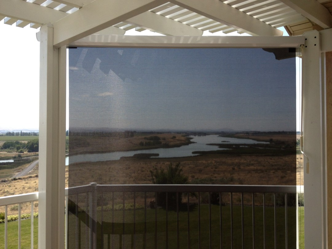 Black Solar Shade with a view