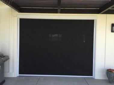 FRT Black solar shade on Garage Door