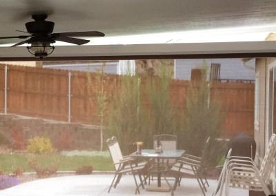 Motorized Fabric Retention Suntex 95 Mocha Solar Shades