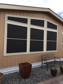 Custom black solar screens