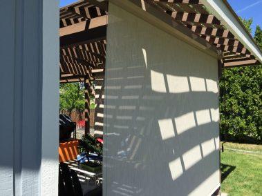 Side Solar Shade Open