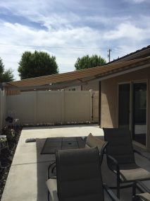 Retractable Awning Manhatten Dune Extended