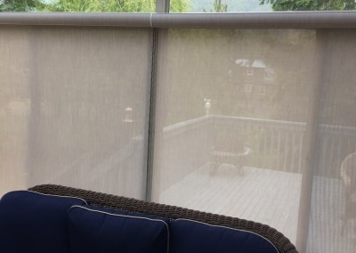 Cassette Style Interior Shades in Sunroom