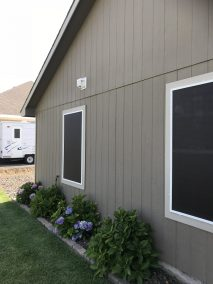 Bronze Solar Screens - White Frame