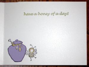 Buzzin' By card inside