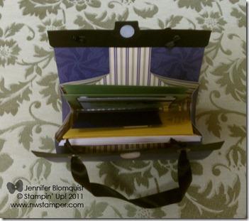 hostess luxury purse open