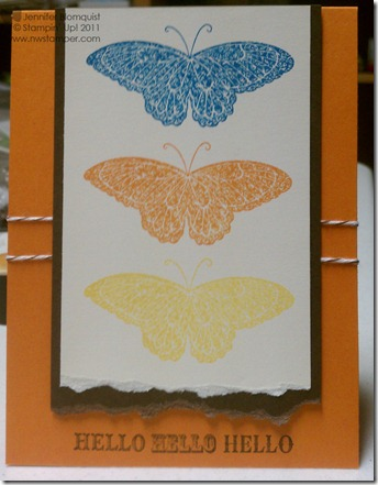 Strength and Hope butterfly hello card