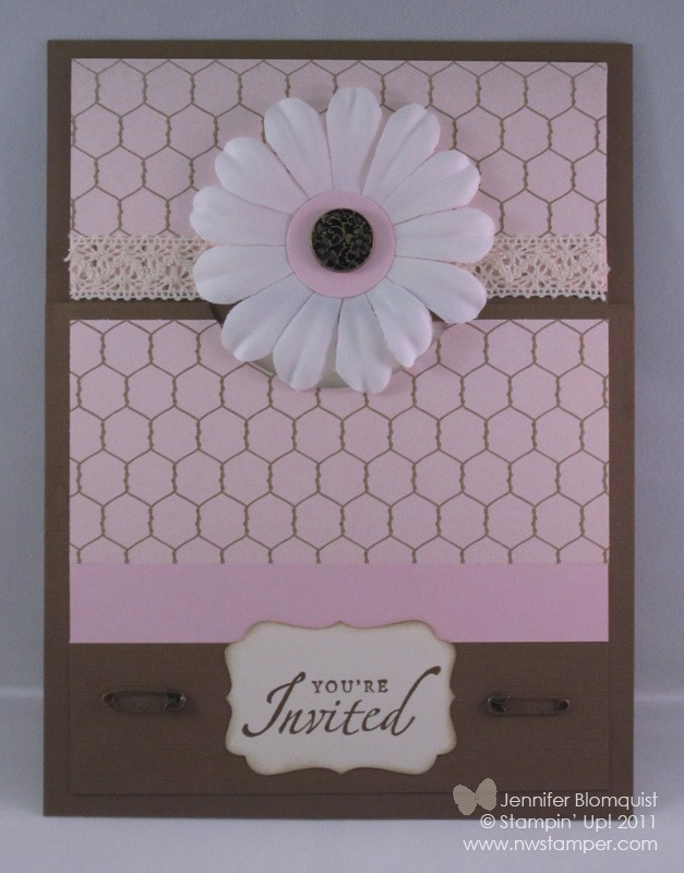 Beau chateau invitation sample well after creating my baby girl scrapbook page i was inspired to try out a matching design for a shower invitation filmwisefo
