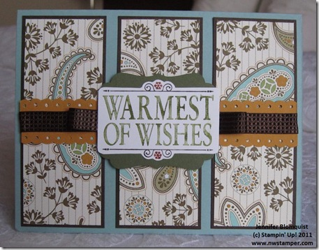 Warmest of Wishes Holiday Mini Card
