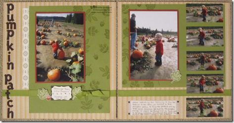 Day of Gratitude Pumpkin Patch 2011 Scrapbook 2 Page Layout