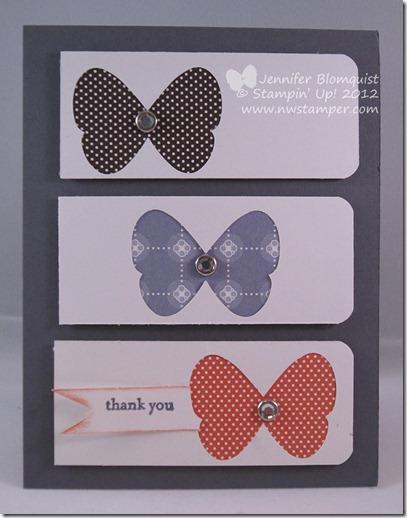 Butterfly Peekaboo card