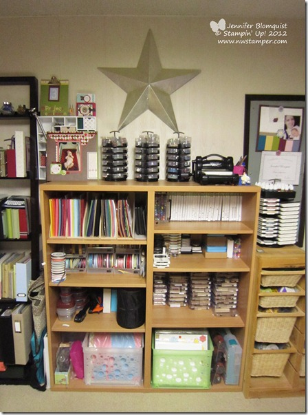 my craft room paper and stamp storage