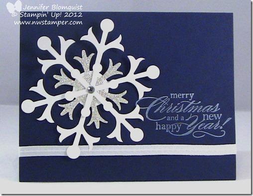 Silver Glimmer Snowflake SAS card