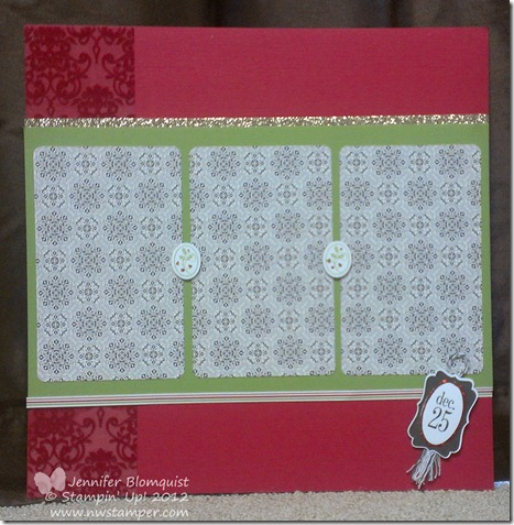 Sparkly Candlelight Christmas Scrapbook layout