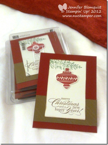 stampin up convention 2013 christmas swap card