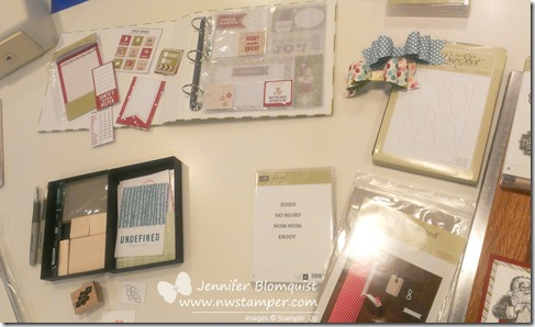 stampin up divided album and bow die display