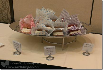 Handmade ice cream sandwiches treat