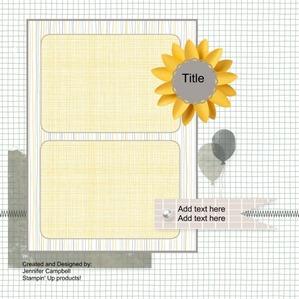 September 2013 SSI scrapbook sketch layout