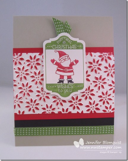 Christmas Card with Petals a Plenty and Tag It