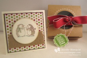 Best of Snow card with gift box