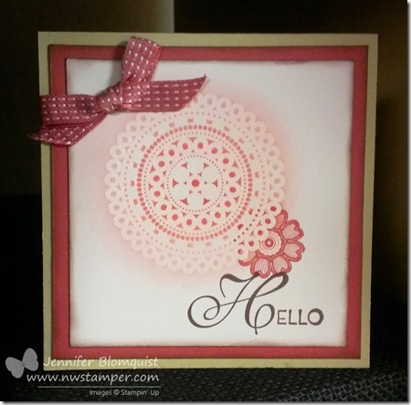 lovely and lacy emboss resist