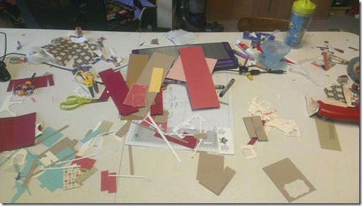 scrap pile for scrapbooking