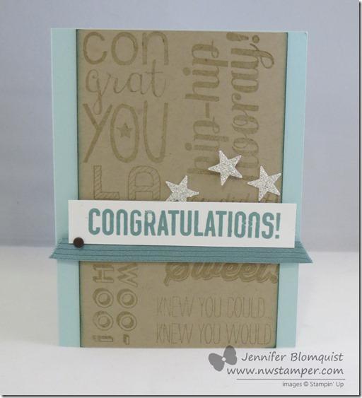 Congratulations Card with Bravo stamp set