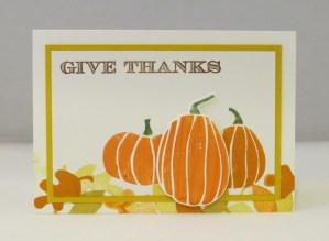 Fall Fest pumpkin double time stampin