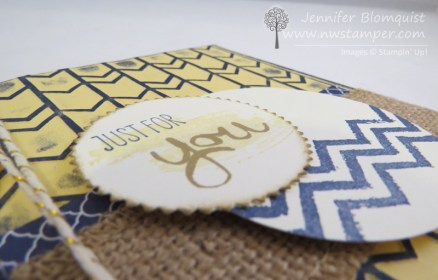 side view work of art distressed card with arrows embossing folder
