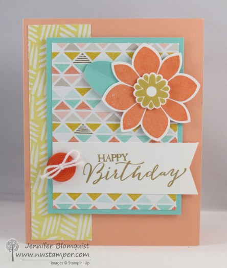 Petal Potpourri Birthday Card with Best Year Ever paper and buttons