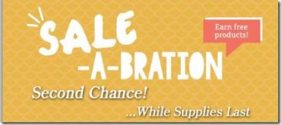 second chance sale-a-bration