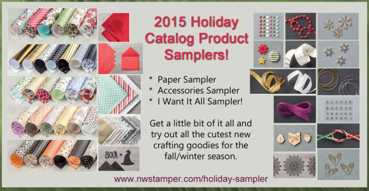 2015 Stampin' Up Holiday Catalog Product Samplers