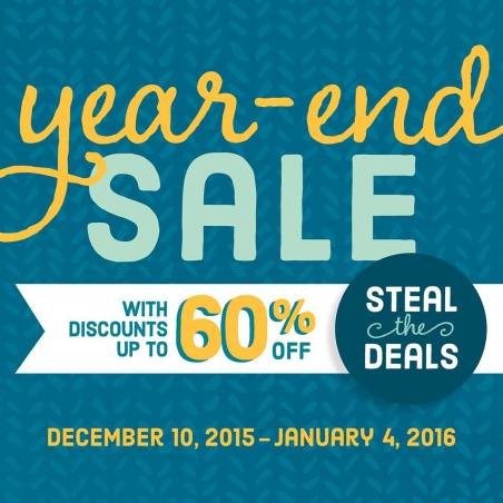Stampin' Up year end sale