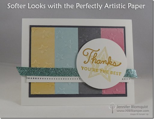 Embossing strips of Perfectly Artistic designer paper