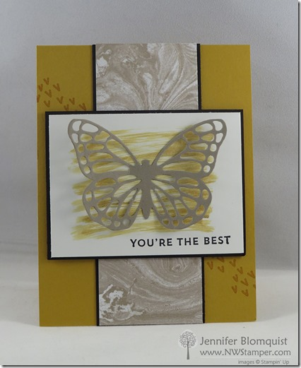 Sunburst sayings with perfectly artistic butterfly card