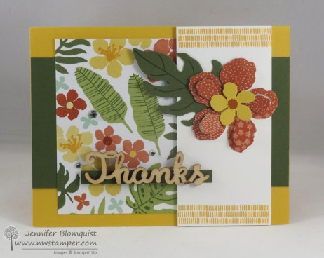 Botanical Blooms thank you card