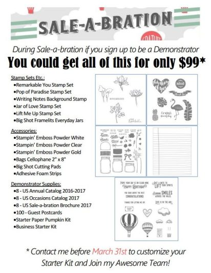 Sale-a-Bration starter kit flyer 2017