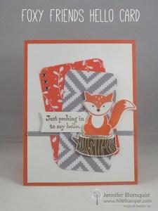 Foxy Friends card idea using the A Little Foxy Suite created by Jennifer Blomquist - NWstamper.com