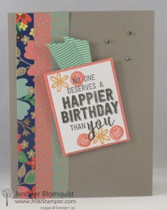 Spring Birthday card with retiring Affectionately Yours paper - NWstamper.com