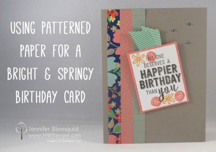 Affectionately Yours spring birthday card with Swirly Bird - NWstamper.com