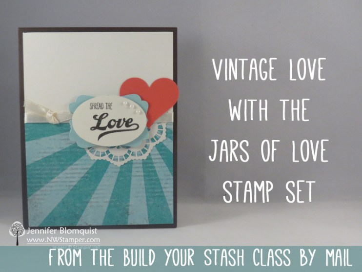 Jars of Love vintage card with Cupcakes & Carousels
