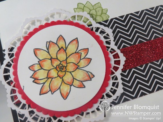 Blending and Watercoloring with Watercolor pencils and the Oh So Succulent Stamps - Nwstamper.com