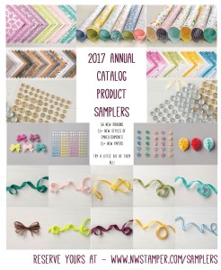 Stampin' Up 2017 Annual Catalog Product Samplers Promotional Image
