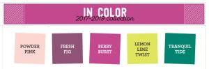 2017-2019 Stampin Up In Colors